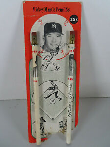 1960s-Mickey-Mantle-New-York-Yankees-MLB-Pencil-Set-2