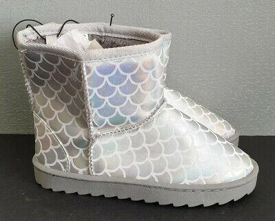 BNWT Older Girls Sz 4 Target Brand Mid Length Pretty Purple Slipper Boots