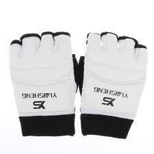 Erwachsen PU Leder Gepolsterte Halbe-Finger Handschuhe für Boxen Muay Thai