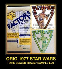 SEALED *SAMPLE LOT* 1977 STAR WARS C3PO THREEPIO r2d2 UNUSED VTG t-shirt iron-on