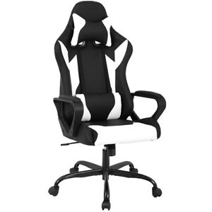 Peachy Details About Office Chair Racing High Back Pu Leather Gaming Chair Reclining Computer Chair Ncnpc Chair Design For Home Ncnpcorg