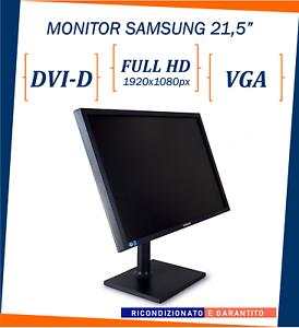 """MONITOR SCHERMO per PC COMPUTER USATO RICONDIZIONATO SAMSUNG 21.5"""" FULL HD VGA A"""