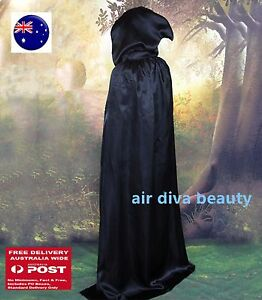 Kids-Girl-Boy-Black-Halloween-Witches-Vampire-Cape-Cloak-Party-Fancy-Costume