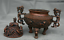 8-8-034-Marked-Old-China-Qing-Red-Copper-Dynasty-Dragon-Beast-Incense-Burner-Censer thumbnail 8