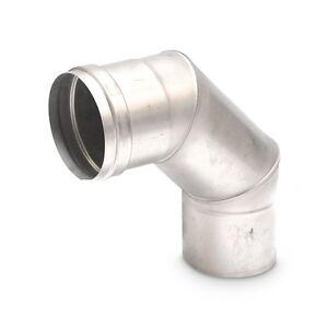 Feuerungsanschluss 90° mit Bajonettverschluss EW Ø 113 mm