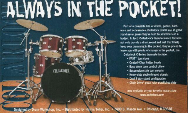2000 small Print Ad of DW Drum Workshop Collarlock C ...