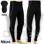Mens Cycling Cycle Tights Winter Trouser Legging Coolmax Padded Black - M, L, XL
