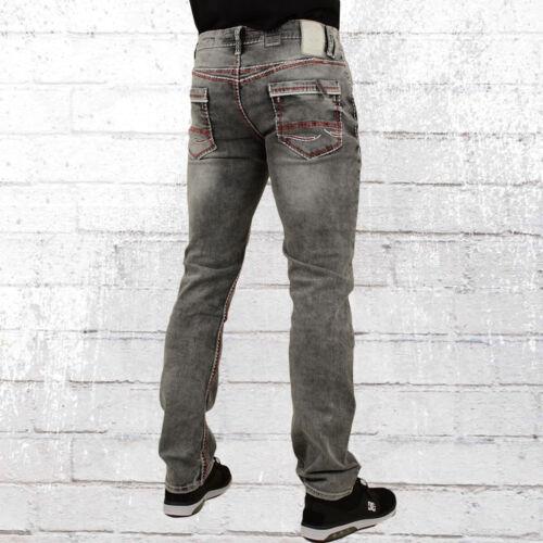 Rusty Neal Uomini Jeans New York 45 Grigio Jeans Pantaloni Denim Pants Uomo