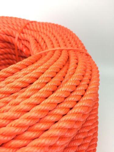 6mm X 100 Mètres Orange Polyéthylène Cordon Corde Flottant Sécurité Life Ligne