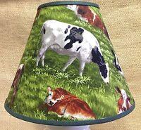 Cow Cows Field Pasture Lamp Shade Handmade Lampshade