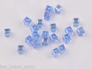 30pcs-6mm-Cube-Square-Faceted-Crystal-Glass-Charms-Loose-Beads-Light-Blue-AB