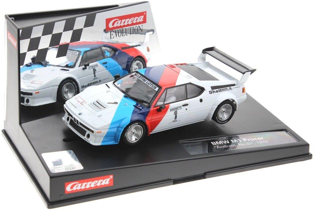Carrera Evo 27560 BMW M1 Procar Procar 1979 - Mario Mario Mario Andretti  | Deutschland Outlet  5e2c6f
