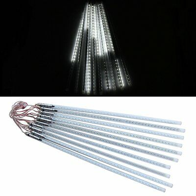 10pcs Tubes String 50cm 3528 54 LED Strip Light Meteor Shower Rain & 12V Adapter