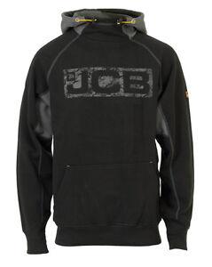 JCB-Uomo-Horton-abbigliamento-da-lavoro-pesante-Felpa-con-cappuccio-Nero-Grigio