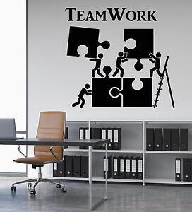 Superbe Image Is Loading Vinyl Wall Decal Teamwork Motivation Office Worker Puzzle