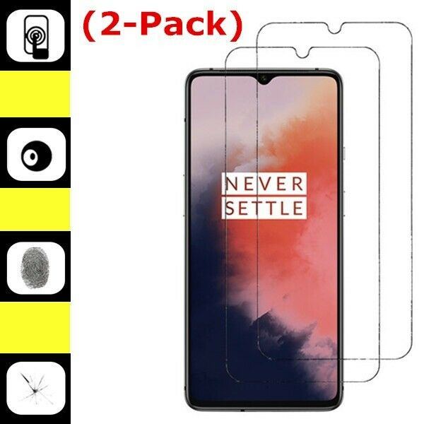 2-Pack Real Premium Tempered Glass Screen Protector Film Cover For OnePlus 7T