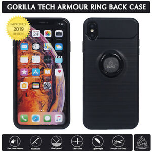 hot sale online 39153 4b8d1 Details about Gorilla Tech Armour Ring Back Case Shockproof Kickstand for  iPhone Galaxy Huawei