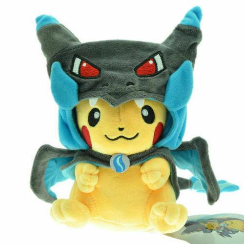 "9.5/"" New Pokemon Pikachu With X Charizard hat Plush Soft Toy Stuffed Animal Doll"