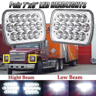 LED PROJECTOR Headlights For Freightliner MT-35 MT-45 MT-55 STEPVAN Pack of 2