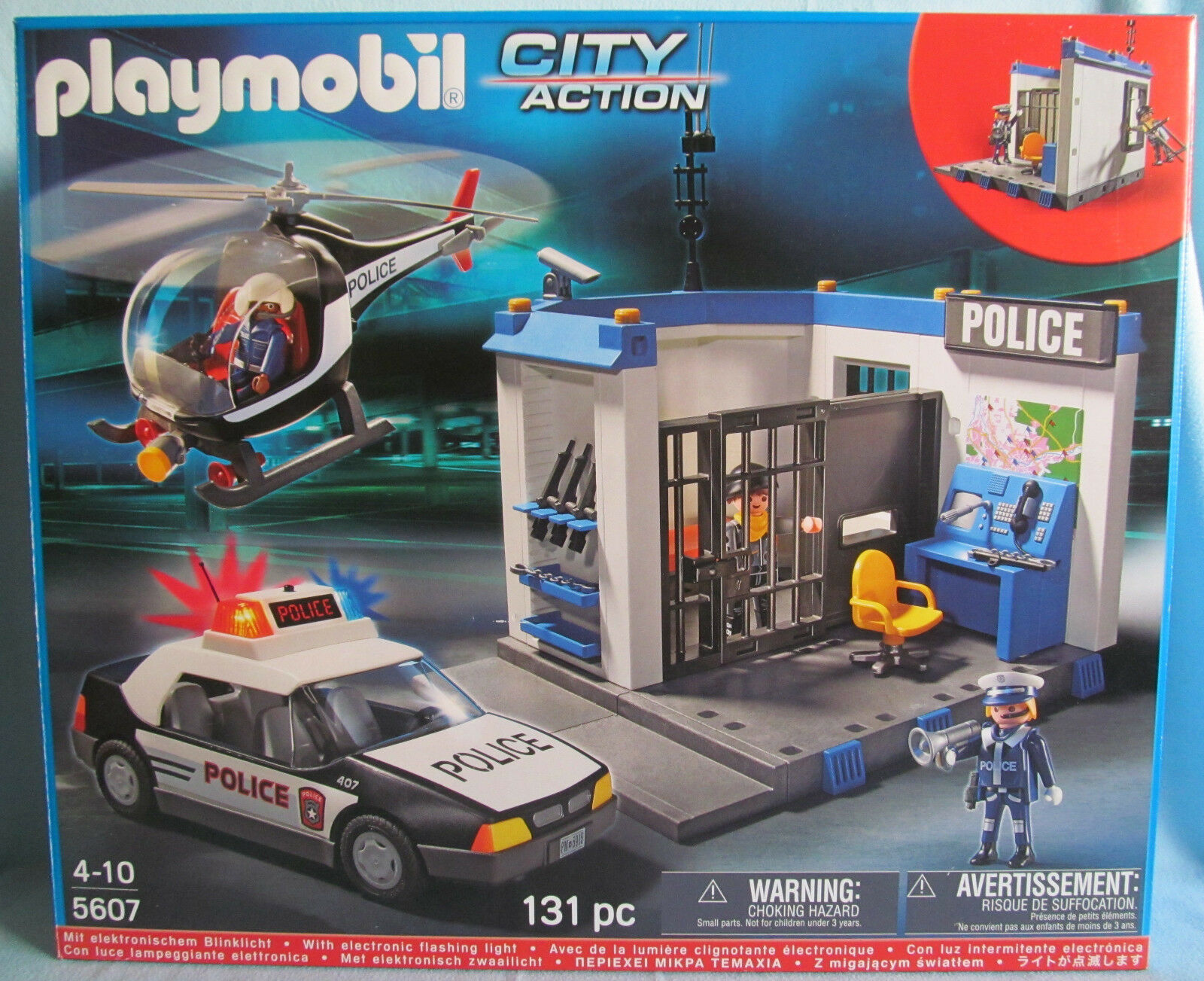 PLAYMOBIL CITY ACTION 5607 5607 5607 Polizei-Set, POLICE, v. 2012, Blinklicht, OVP, TOP ce85ee