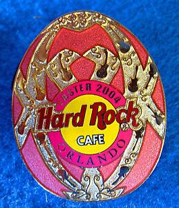 Orlando-Oro-Decorativa-Rosa-Huevo-de-Pascua-Serie-2004-Hard-Rock-Cafe-Pin-Le