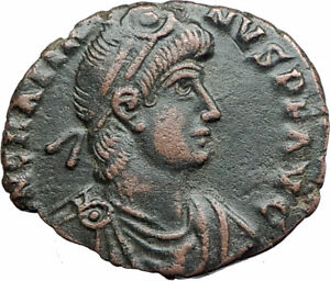 GRATIAN-with-woman-Original-379AD-Rome-Authentic-Ancient-Roman-Coin-i80001