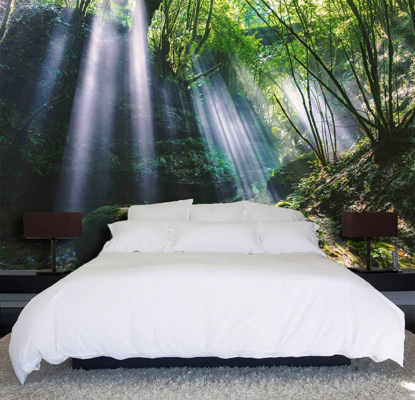 3D Waterfall Nature 74 Wallpaper Mural Wall Print Wall Wallpaper Murals US Lemon