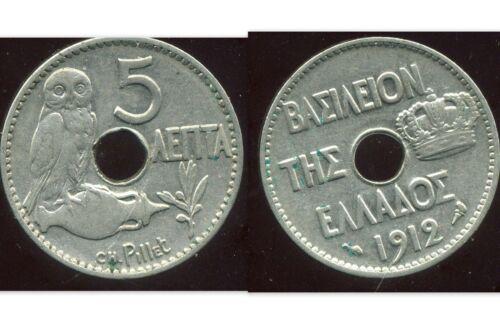 etat GRECE  GREECE  5 lepta 1912