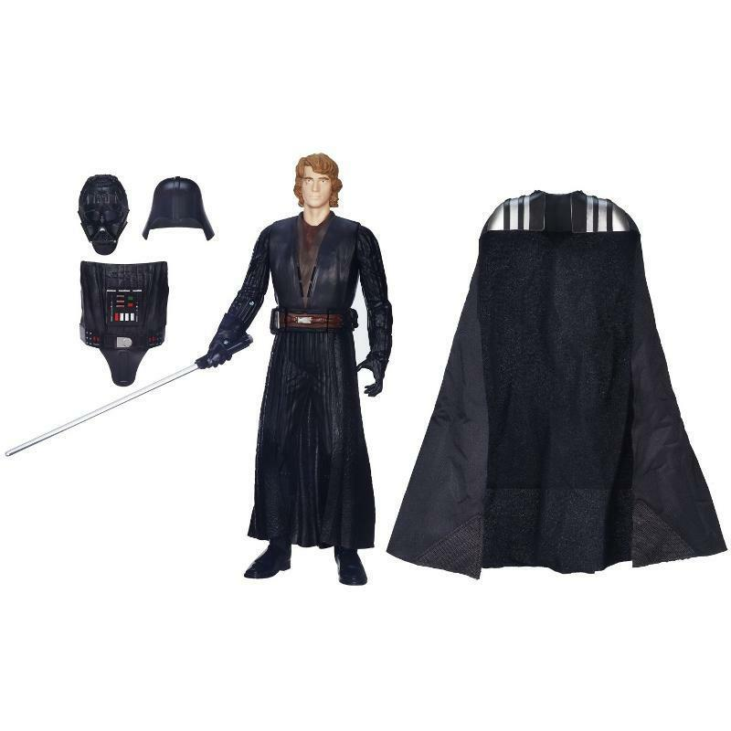 STAR WARS ANAKIN TO DARTH VADER WITH COLOR CHANGE LIGHTSABER 2 FIGURES IN 1