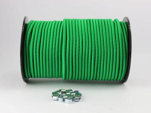 6mm Expanderseil grün 30m 10 Würgeklemmen Gummiseil Seil Klemmen Plane