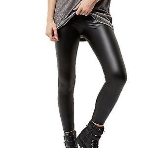 Ladies-River-Island-High-Waist-Leather-Look-Super-Skinny-Legging-Womens-Jean