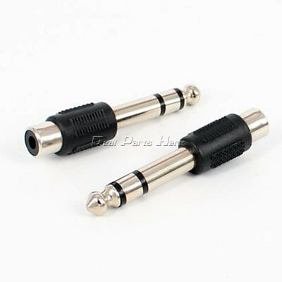 """6.35mm 1//4/"""" Stereo Male Plug Audio Cable Adapter Adaptor Convertors"""