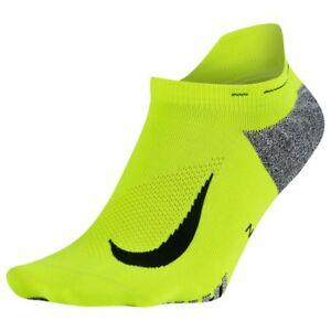 Women Clothing Socks Black/Volt Nike Unisex Elite Lightweight No-Show Running Sock