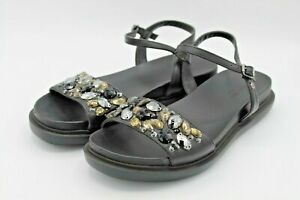 VERA-WANG-Black-Summer-Sandal-Size-8-M-Comfort-And-Elegance-For-Your-Feet