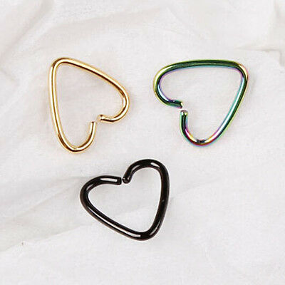 1PC Stainless Steel Daith Heart Rings Helix Tragus Piercing Hoop Ear Cartilage