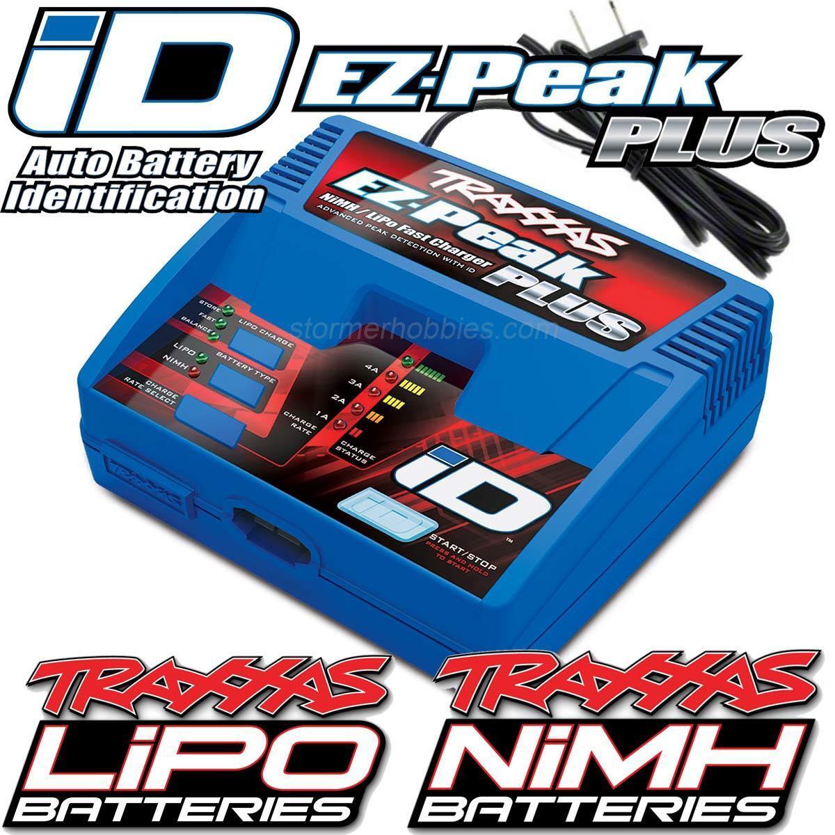 Traxxas 2970 EZ-Peak Plus 4-Amp Auto-iD Battery Charger, E-REVO SLASH TRA2970