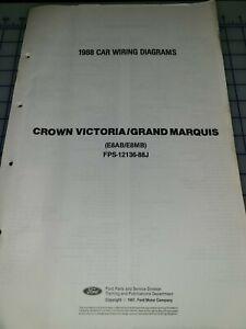 1988 Ford Ltd Crown Victoria Mercury Grand Marquis Electrical Diagrams Manual Ebay