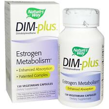 DIM-plus Estrogen Metabolism - 120 Vcaps by Nature's Way - for Hormone Balance