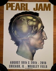 PEARL-JAM-OFFICIAL-2018-WRIGLEY-FIELD-CHICAGO-CUNNINGHAM-8-18-8-20-POSTER-MINT