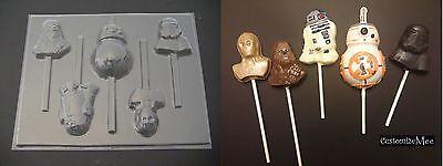 R2D2 Star Wars Lollipop Chocolate Soap Candy Gummy Mold