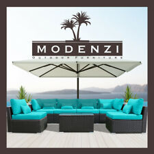 7PC Outdoor Patio Furniture Rattan Wicker Sectional Sofa Chair Couch Set Modenzi
