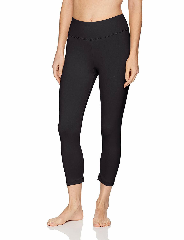 Danskin Women's Signature Yoga Capri Legging, rich, Rich Black, Size Small bviu
