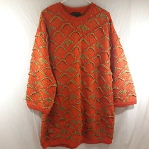 COOGI-Men-039-s-3XL-Red-Brown-Sweater