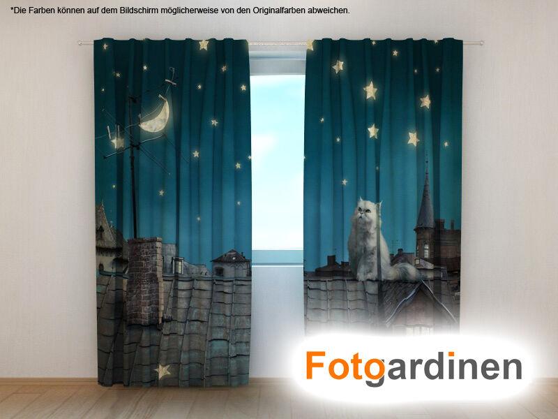 Foto visillos  gato  cortina 3d impresión fotográfica, foto-cortina,, hecha a medida