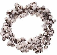 Cotton Boll Door Wreath 18 Inch Decor Wedding Farmhouse Southern Cottage