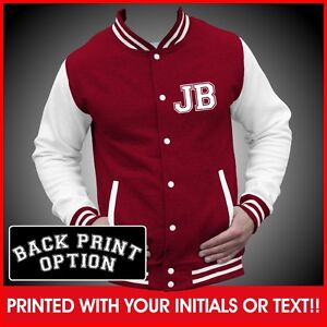Personalized Varsity/college/ baseball jacket with name on back and initial  on front.