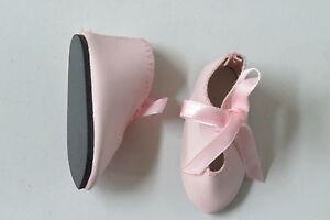 Chaussures   Long 67   Large 27  Simili cuir Rose clair  pour poupées anciennes
