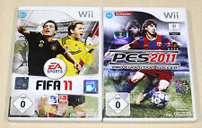 Nintendo wii giochi collezione FIFA 11 PES 2011 CALCIO --- (13 14)