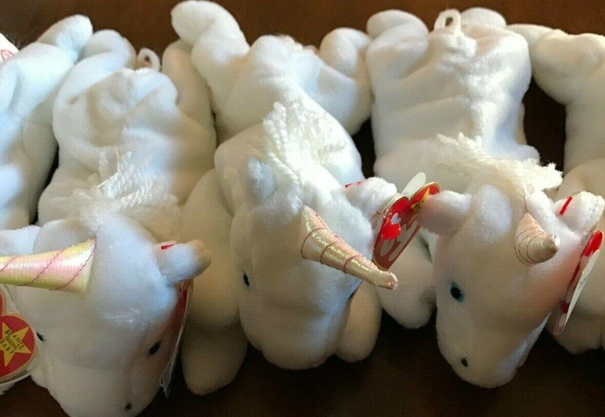 (6) Very Rare Ty Ty Ty Beanie Babies Mystic Unicorn 3 Variations 5 21 1994 b7d6f5