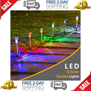 12 PCS Luces LED Solares de Patio Lamparas Solares Patios Luz Solar para Jardin